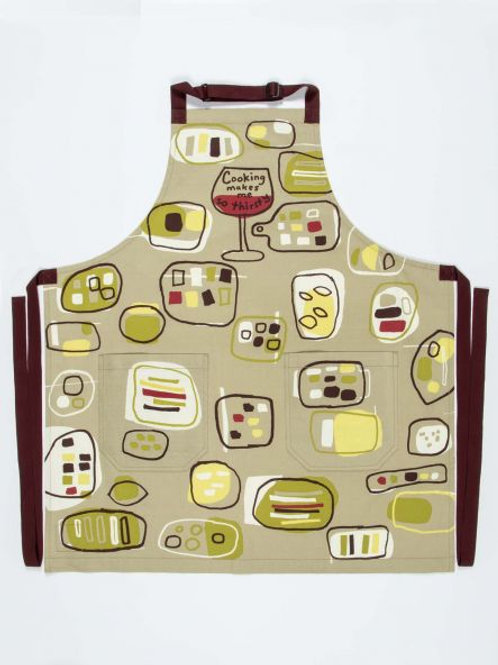 Cooking Makes Me Thirsty Kitchen Apron