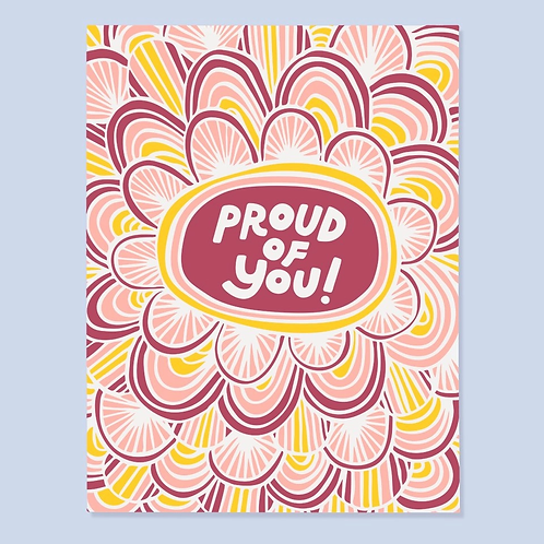 Proud of You Colorful Greeting Card