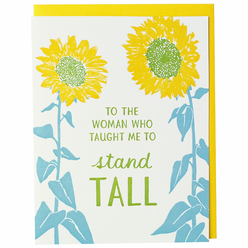 Woman Who Taught Me To Stand Tall Greeting Card