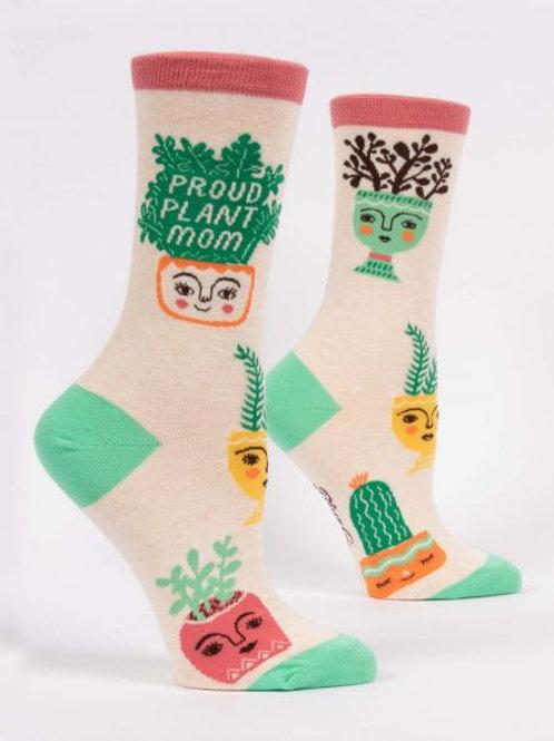 Women's Proud Plant Mom Crew Sock