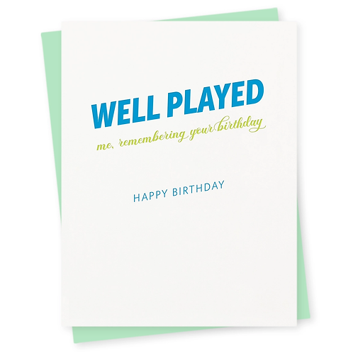 Well Played Greeting Card