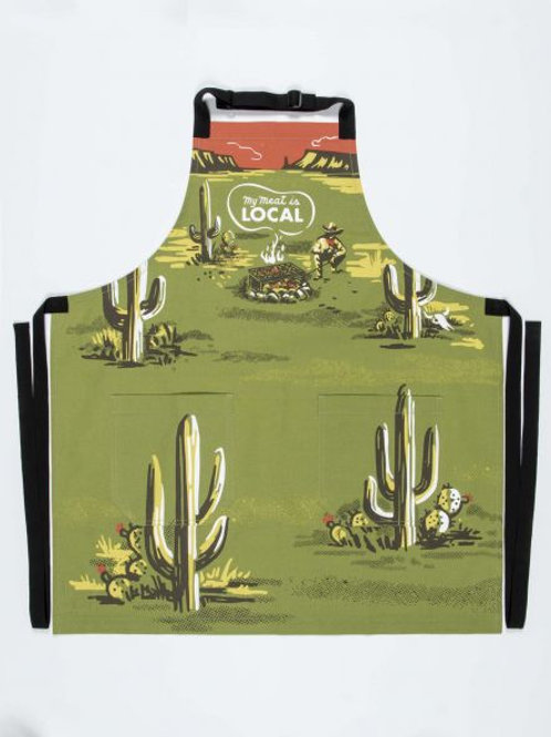 My Meat Is Local Kitchen Apron
