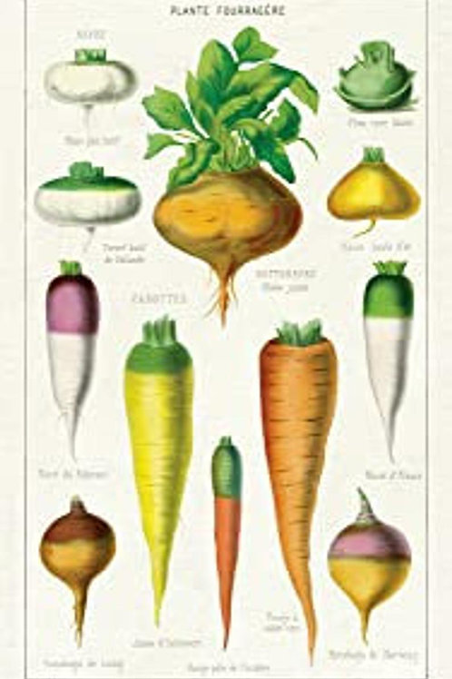 Vegetables Vintage Tea Towel