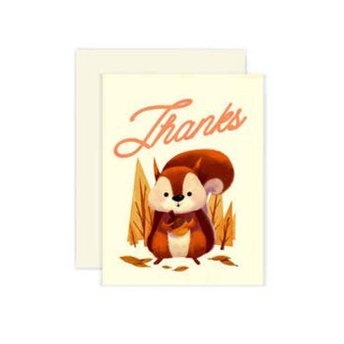 Squirrel Thanks Greeting Card