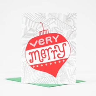 Very Merry Greeting Card