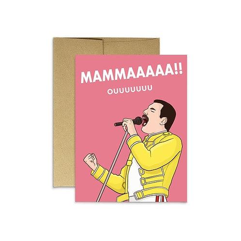 Freddie Mama Greeting Card