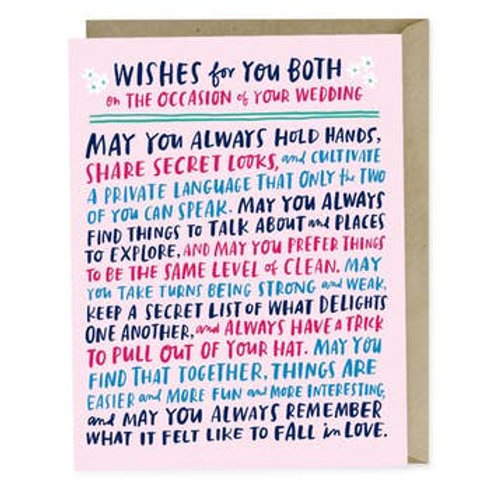 Wishes for You Both Greeting Card