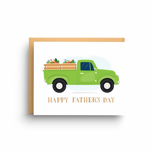 Happy Father's Day Truck Card