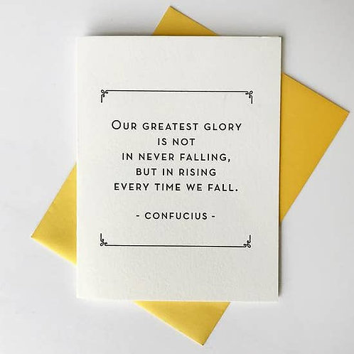 Our Greatest Glory Greeting Card