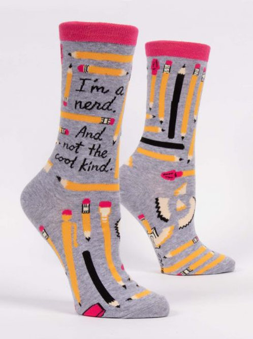 Women's I'm Nerd Not Cool Kind Crew Sock