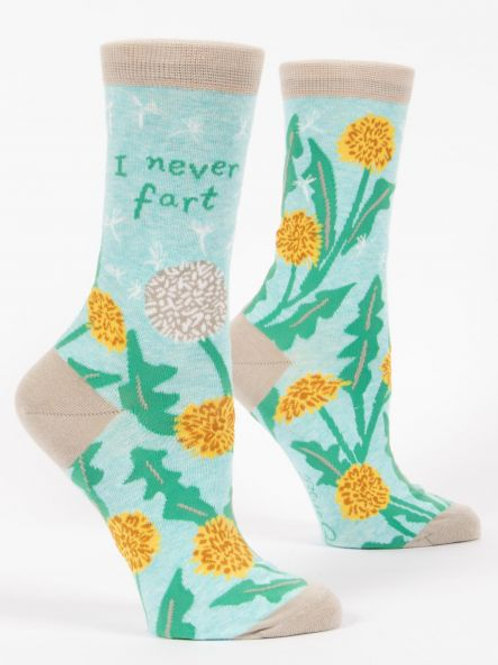 Women's I Never Fart Crew Socks