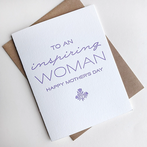 To An Inspiring Woman Greeting Card