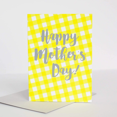 Happy Mother's Day Gingham Greeting Card