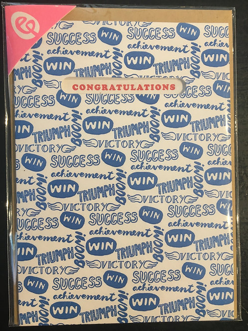 Congratulations Blue Greeting Card