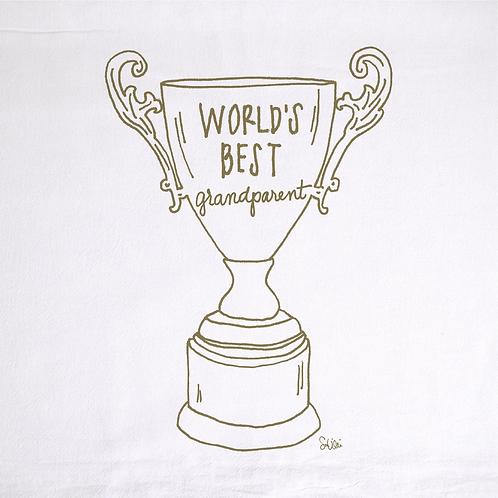 World's Best Grandparent Trophy Towel