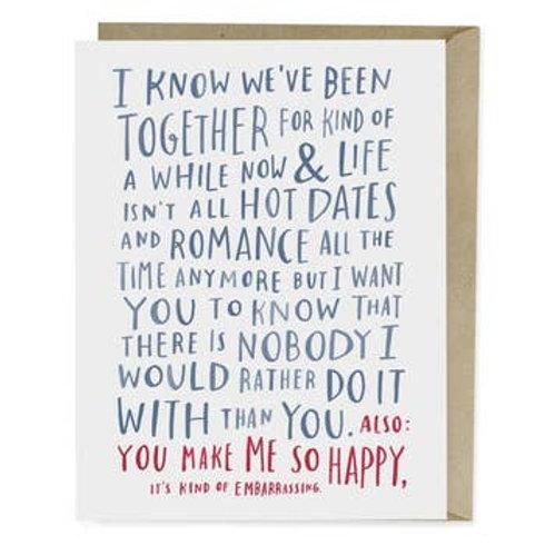 Awkward Love Greeting Card