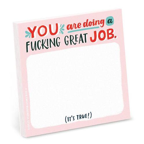 Fucking Great Job Post It Pad