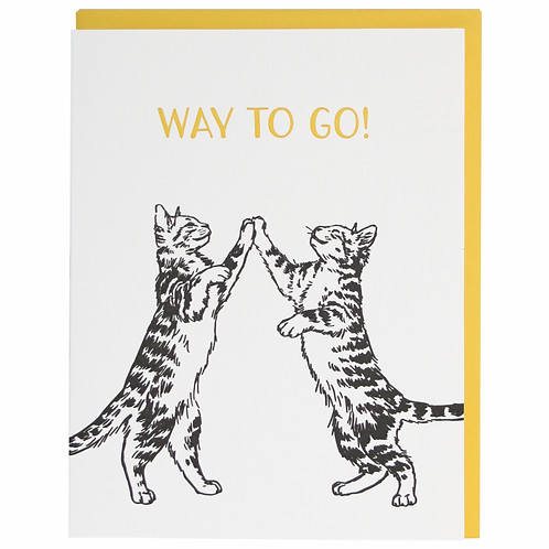 Way To Go Cats Greeting Card
