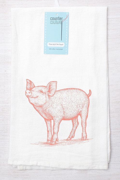 Prize Pig Tea Towel