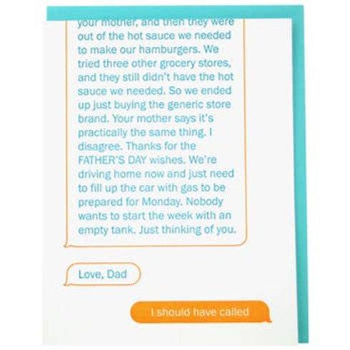 Texting Dad Greeting Card
