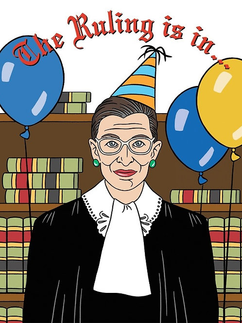 The Ruling Is In RBG Greeting Card