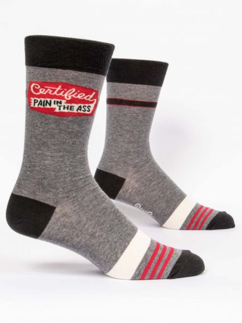 Certified Pain In The Ass Men's Sock