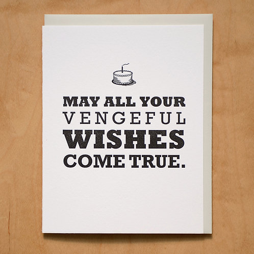 Vengeful Wishes Come True Greeting Card