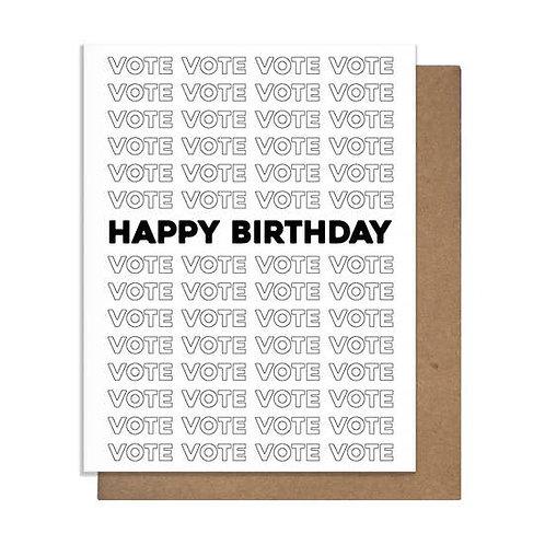 Happy Birthday Vote Greeting Card