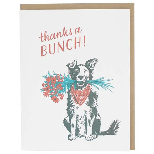 Thanks a Bunch Dog Greeting Card