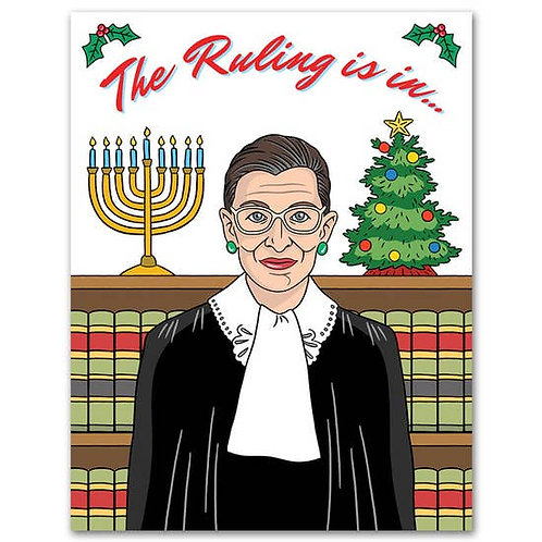 The Ruling Is In Holiday Greeting Card