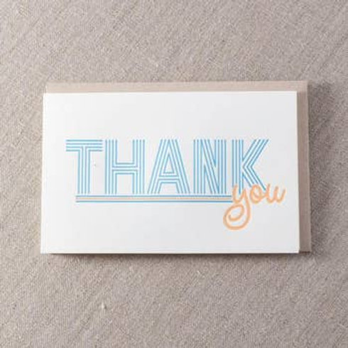 Thank You Line Type Greeting Card