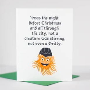 Twas Gritty Greeting Card