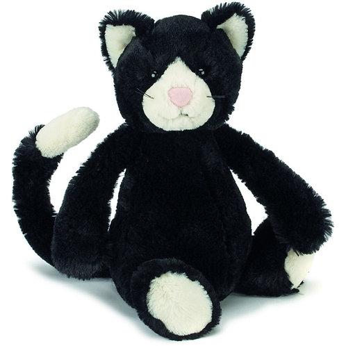 """Bashful Black and White Kitten Small 7"""""""