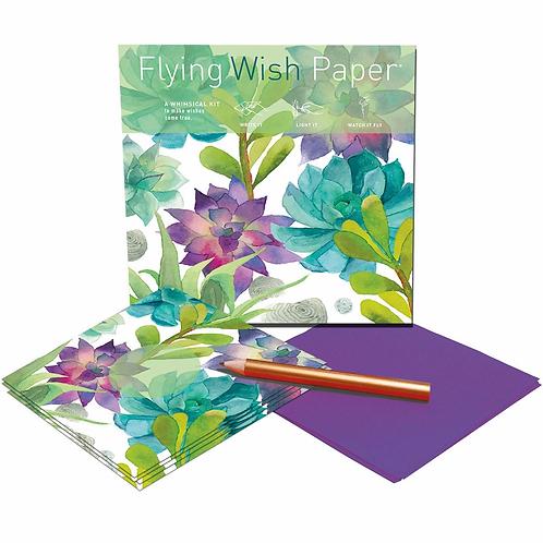 Cactus Flower Flying Wish Paper