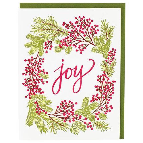 Joy Wreath Greeting Card