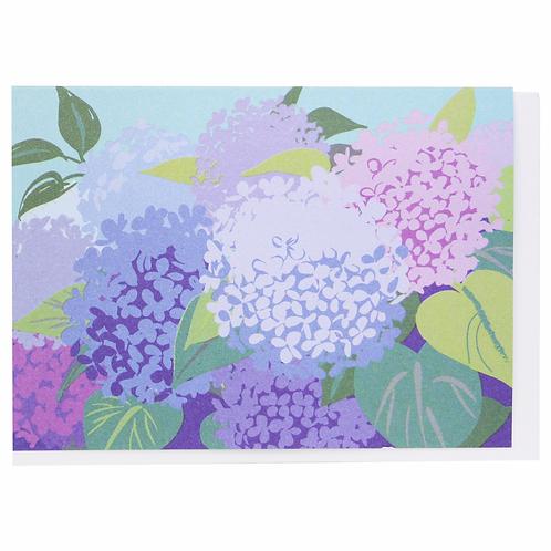 Hydrangeas Blank Notecard