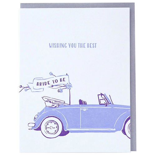 Wishing You The Best Bridal Buggy Greeting Card