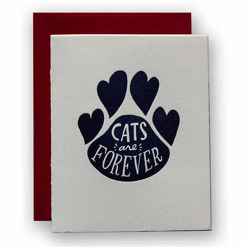 Cats Are Forever Greeting Card