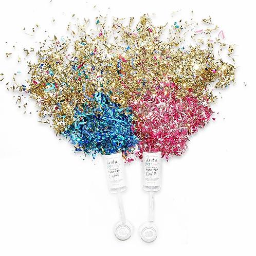Gender Reveal Girl Push Up Confetti