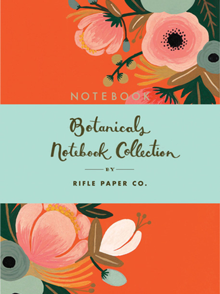 Botanical Notebook Collection of 3