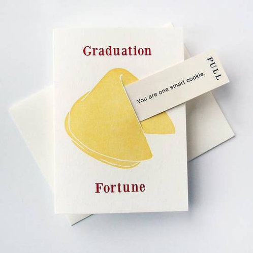 Graduation Fortune Cookie Greeting Card