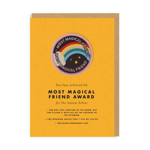 Most Magical Friend Award and Embroidered Badge