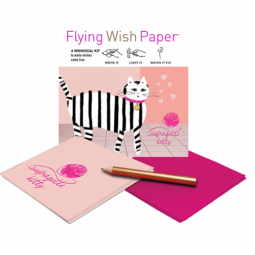 Suffragette Kitty Flying Wish Paper