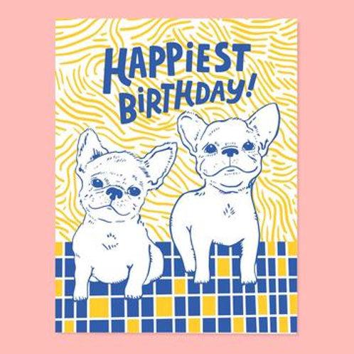 Frenchie Birthday Greeting Card