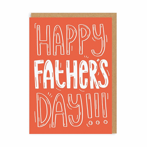 Happy Father's Day!!! Red Greeting Card