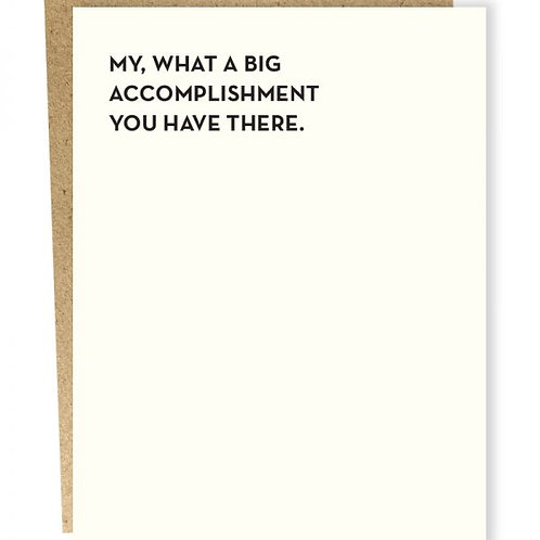 Accomplishment Greeting Card
