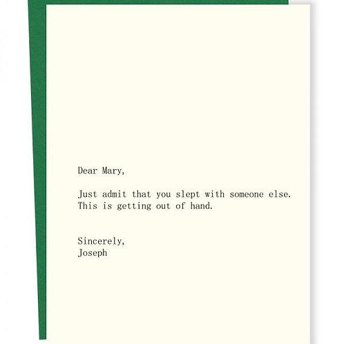 Dear Mary Love Joseph Greeting Card