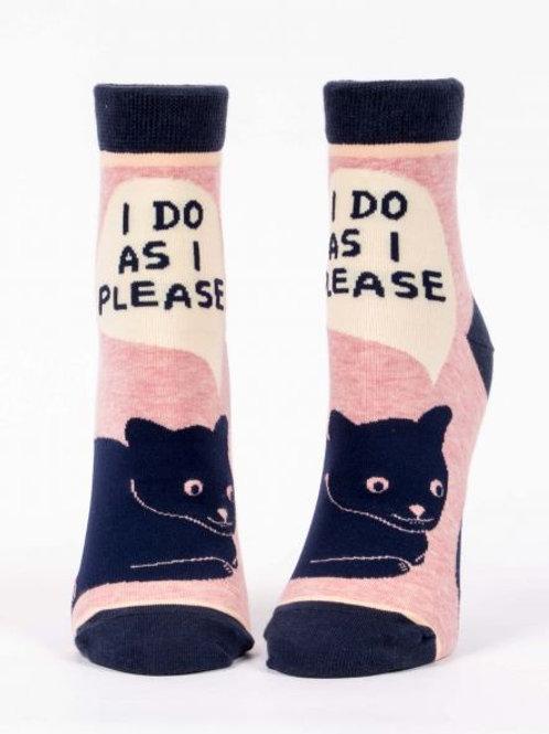 Women's I Do As I Please Ankle Sock