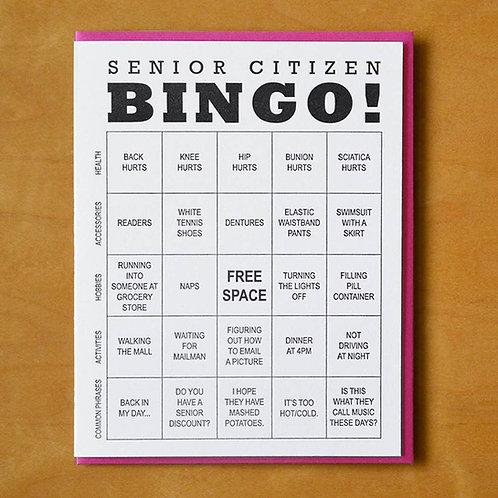 Senior Bingo Greeting Card