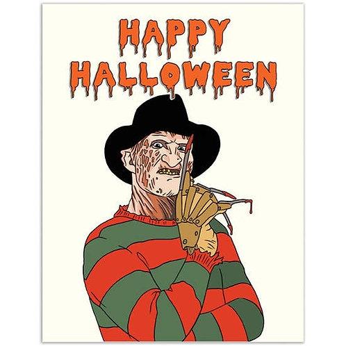 Happy Halloween Freddy Greeting Card